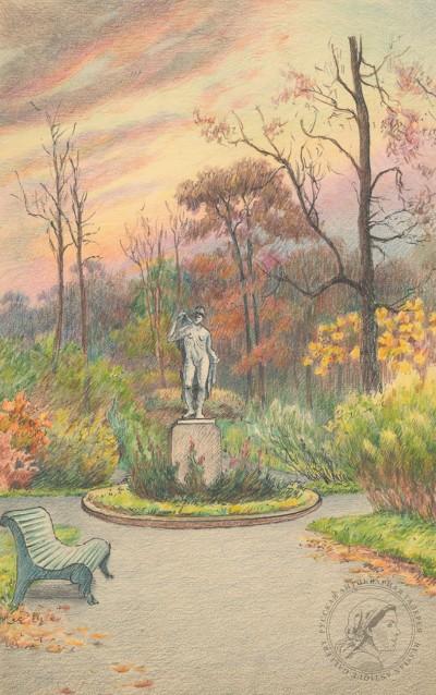 Вольтер А. В парке