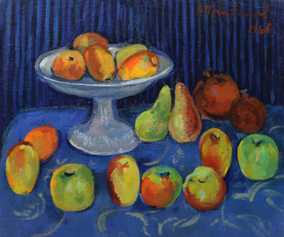 Картина Натюрморт с яблоками, грушами и гранатами художник Почиталов
