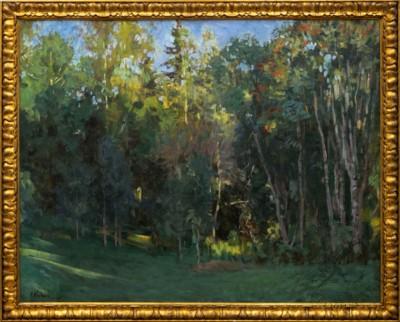 антикварная картина Вечер 1910 годы художник Клодт
