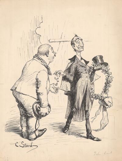карикатура Благодетель художник Карл Сторч