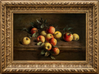 картина Спелые яблоки художник князь Щербатов