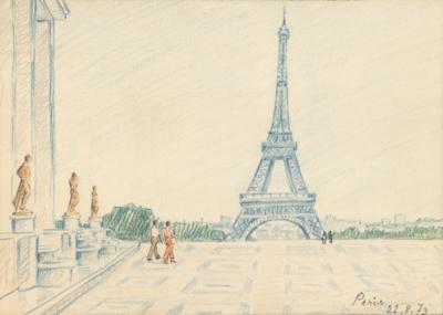 рисунок Париж художник Емельянова