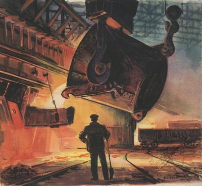 В сталелитейном цеху